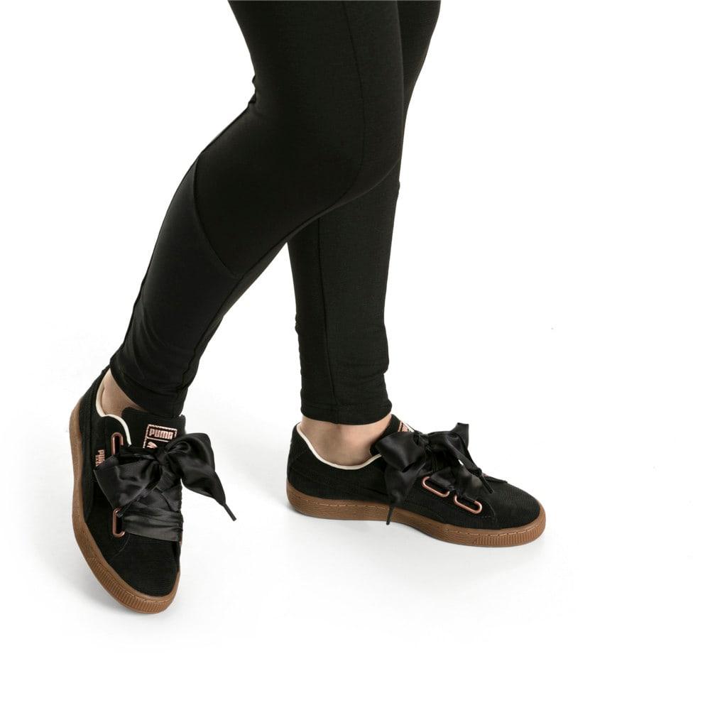 Imagen PUMA Zapatillas de cotelé Basket Heart para mujer #2