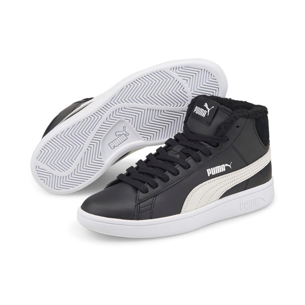 Зображення Puma Дитячі черевики Puma Smash v2 Mid L Fur Jr #2: Puma Black-Puma White