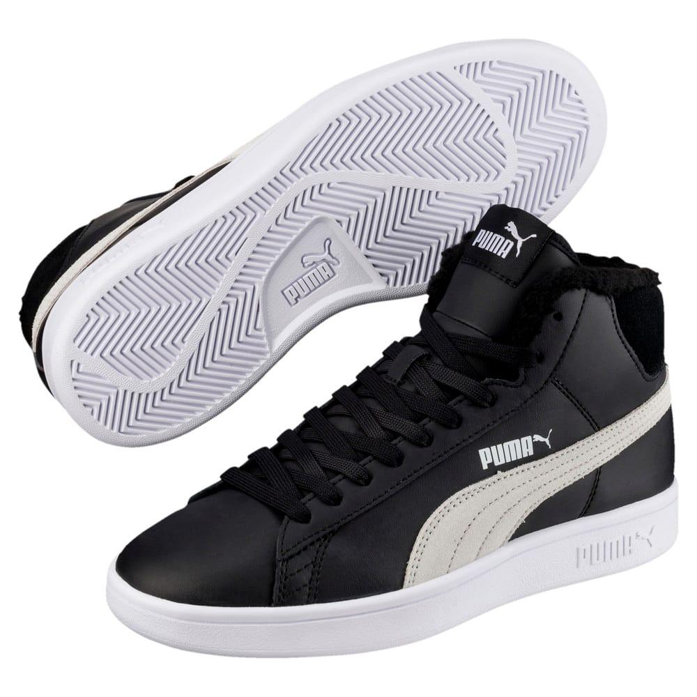 Зображення Puma Дитячі черевики Puma Smash v2 Mid L Fur Jr #1: Puma Black-Puma White