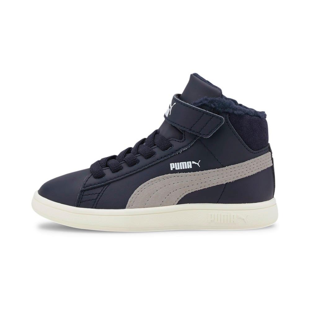 Изображение Puma Детские ботинки Puma Smash v2 Mid L Fur V PS #1