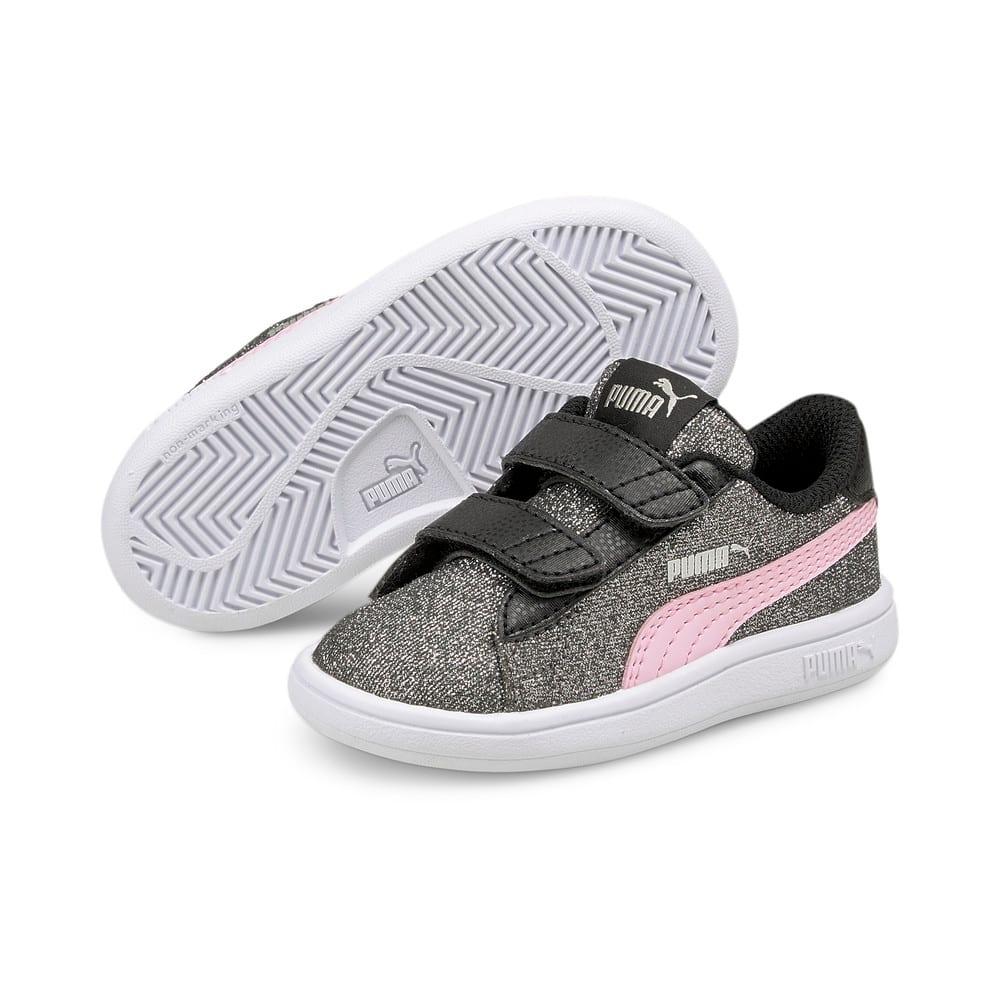 Görüntü Puma Smash v2 GLITZ Glam Bantlı Bebek Ayakkabı #2