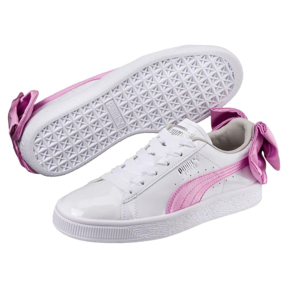 Imagen PUMA Zapatillas de charol con moño Basket para niñas #2