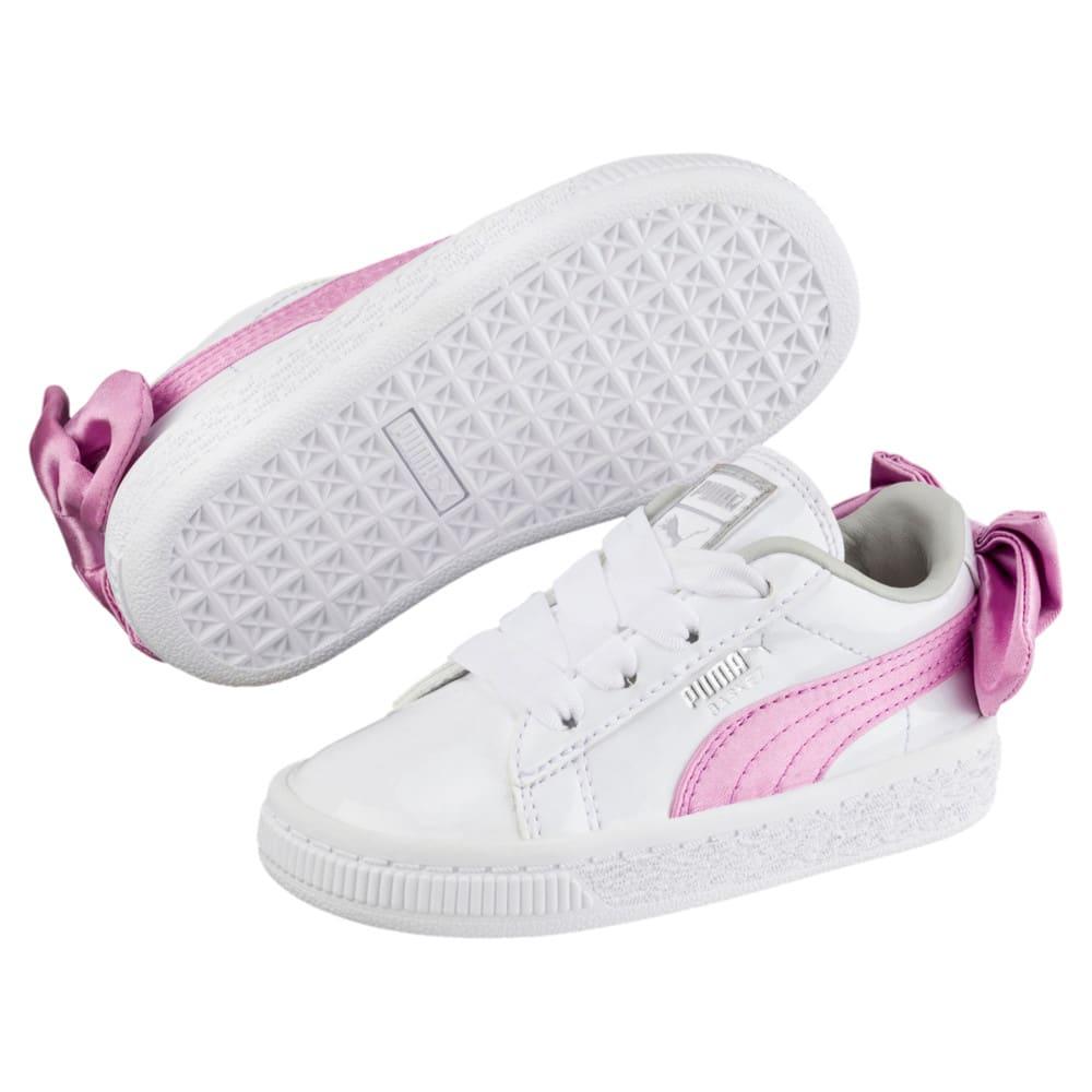 Imagen PUMA Zapatillas de charol con moño Basket para bebés #2