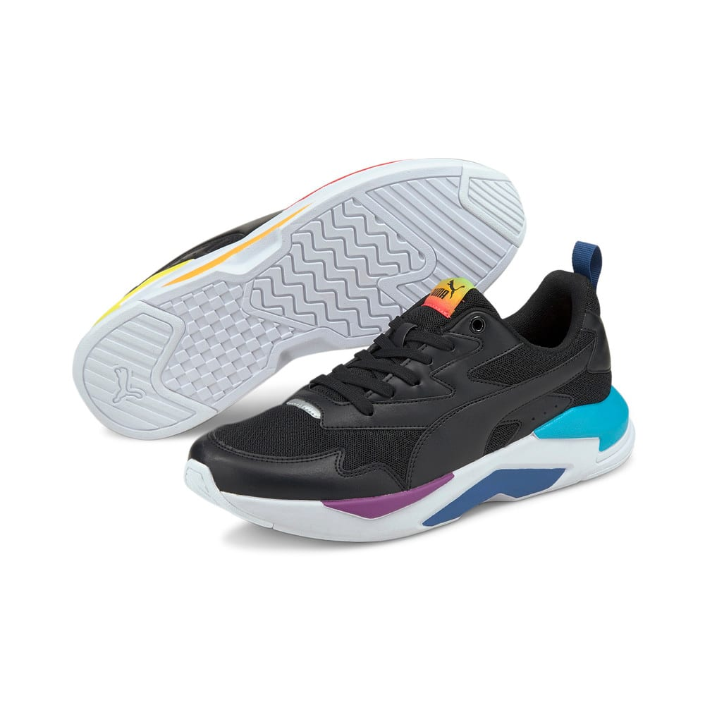 Изображение Puma Кроссовки X-Ray Lite Rainbow Trainers #2: Black-Black-Celandine-Blue