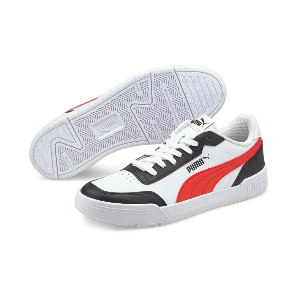 Зображення Puma Кросівки Caracal #2: Puma White-Poppy Red-Puma Black