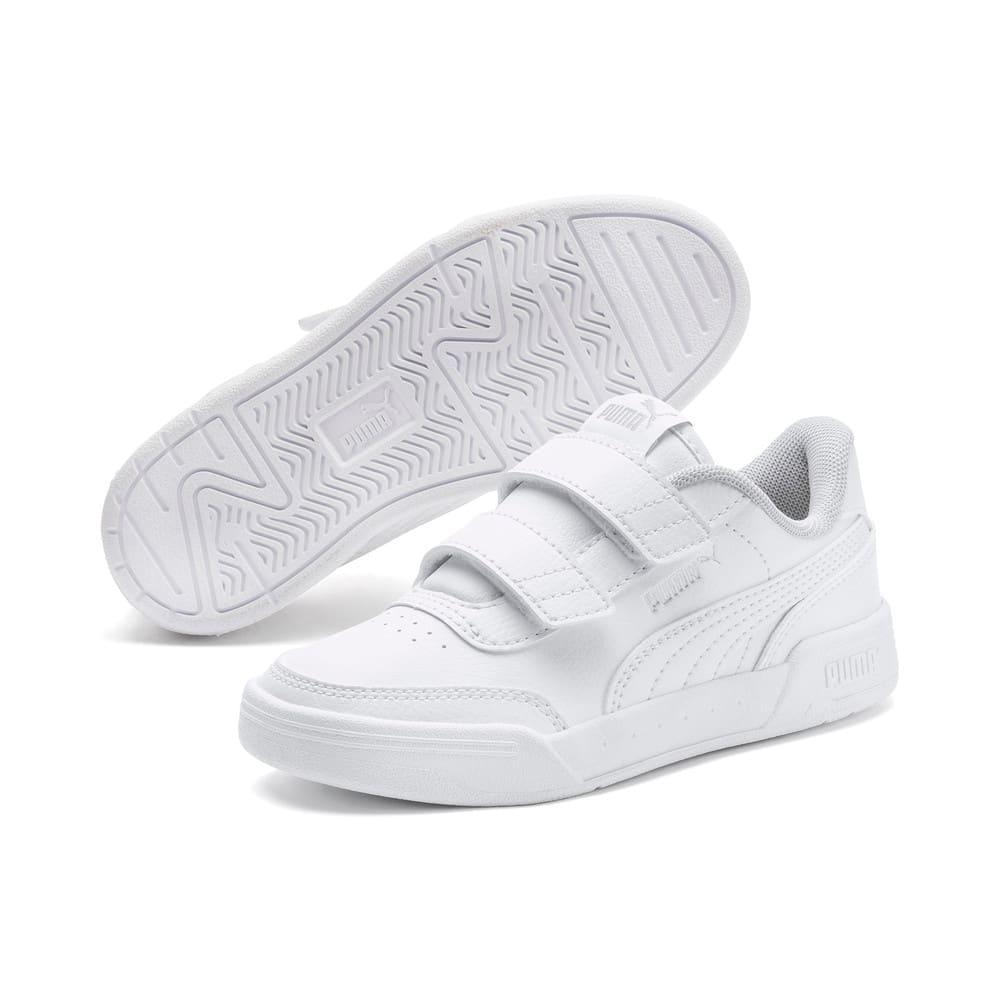 Изображение Puma Детские кеды Caracal V PS #2: Puma White-Puma White-Puma Silver