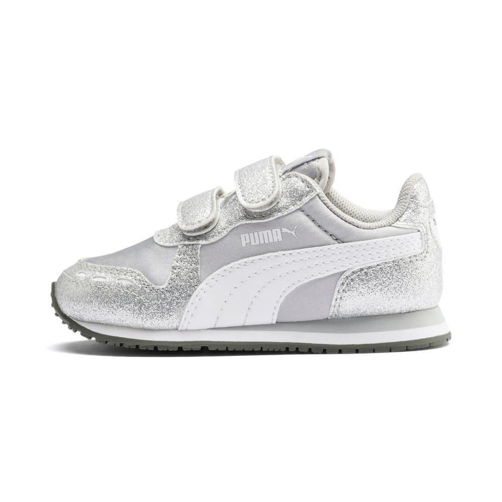 Изображение Puma Детские кроссовки Cabana Racer Glitz V Inf #1: Puma Silver-Puma White-Gray Violet