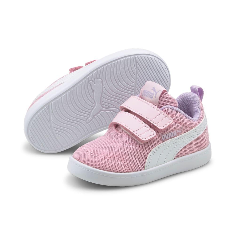 Изображение Puma Детские кеды Courtflex V2 Mesh Babies' Trainers #2