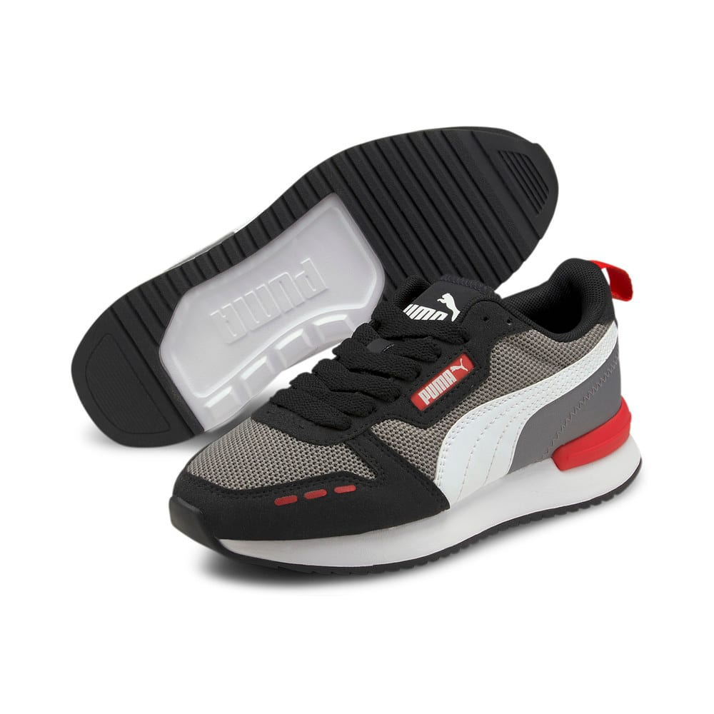 Изображение Puma Детские кроссовки R78 Youth Trainers #2: Steel Gray-Puma White-Puma Black