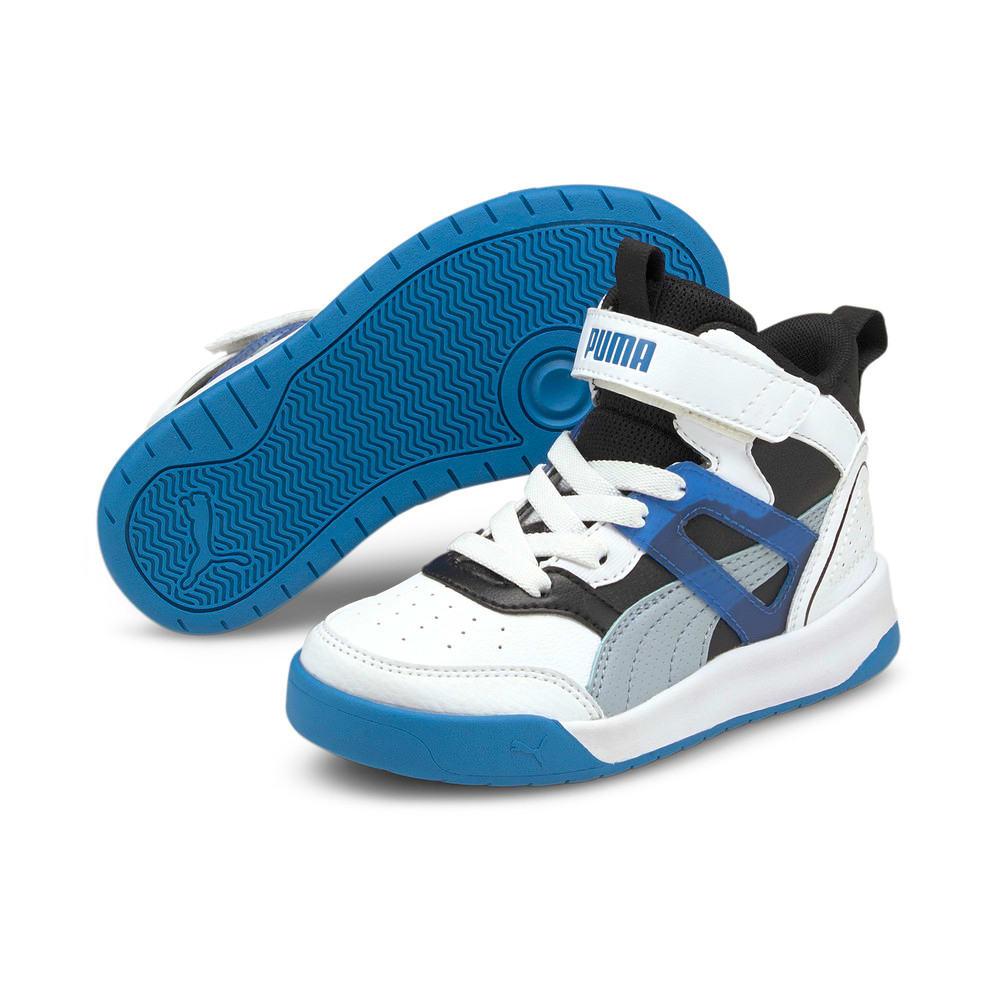 Зображення Puma Дитячі кросівки PUMA Backcourt Mid AC PS #2: Puma White-Blue Fog-Puma Black-Future Blue