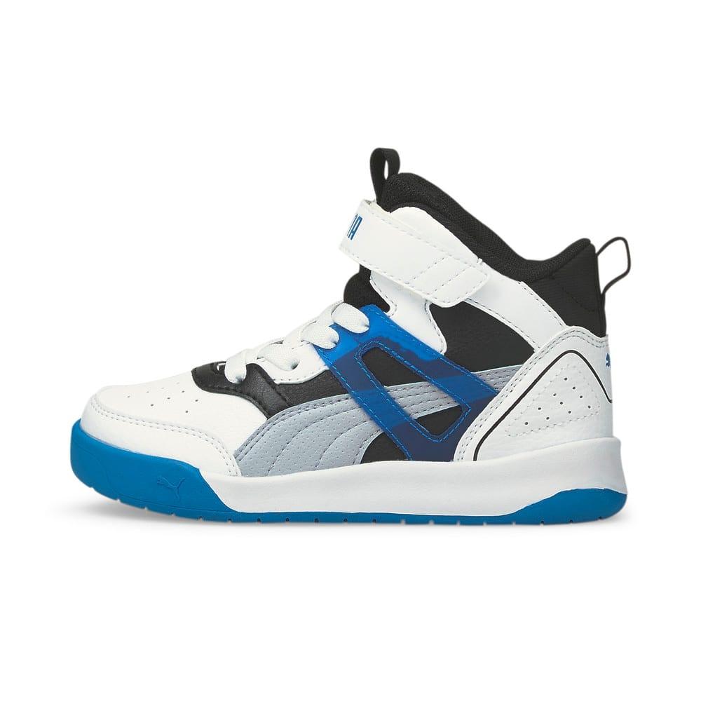 Зображення Puma Дитячі кросівки PUMA Backcourt Mid AC PS #1: Puma White-Blue Fog-Puma Black-Future Blue