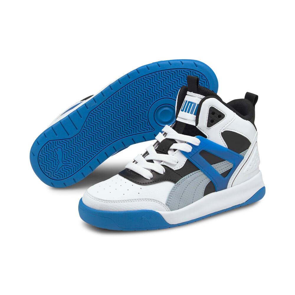 Изображение Puma Детские кроссовки PUMA Backcourt Mid Jr #2: Puma White-Blue Fog-Puma Black-Future Blue