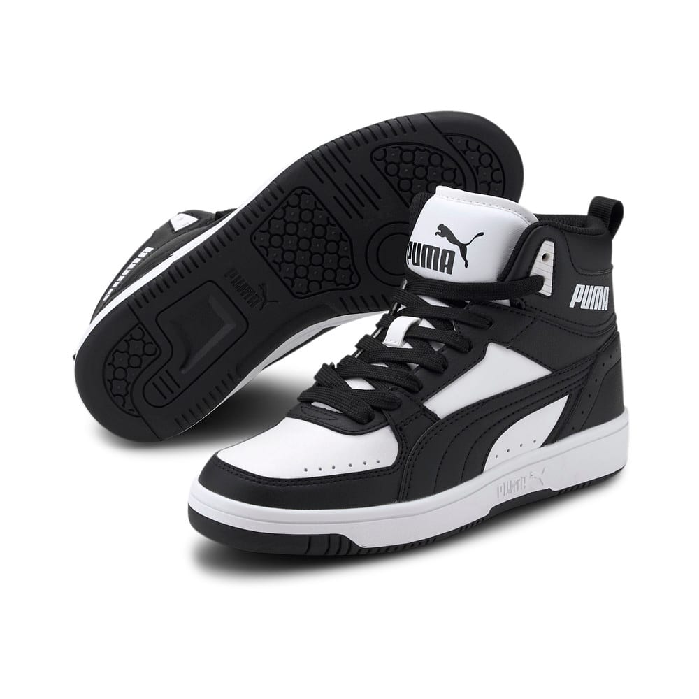 Изображение Puma Детские кеды Rebound JOY Youth Trainers #2: Puma Black-Puma Black-Puma White