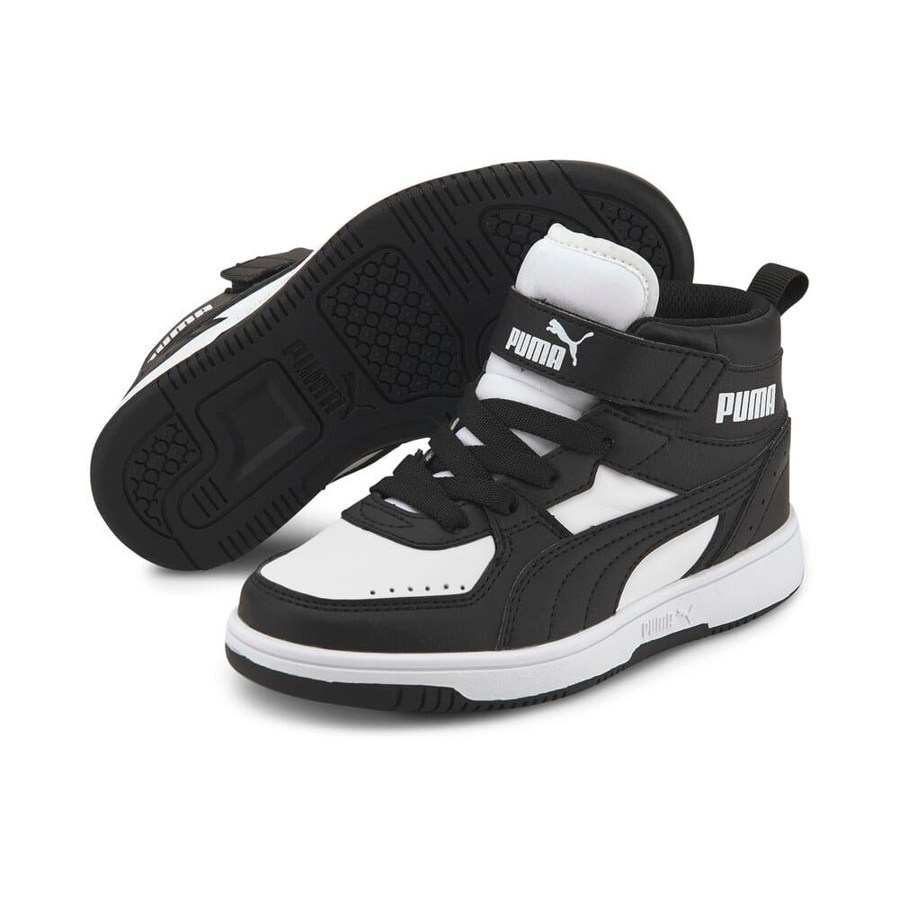 Изображение Puma Детские кеды Rebound JOY Kids' Trainers #2: Puma Black-Puma Black-Puma White