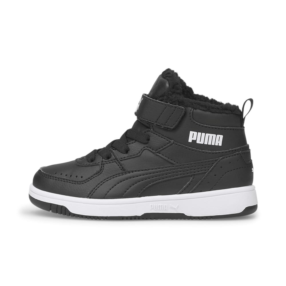 Изображение Puma Детские кеды Rebound Joy Fur Kids' Trainers #1: Puma Black-Puma White