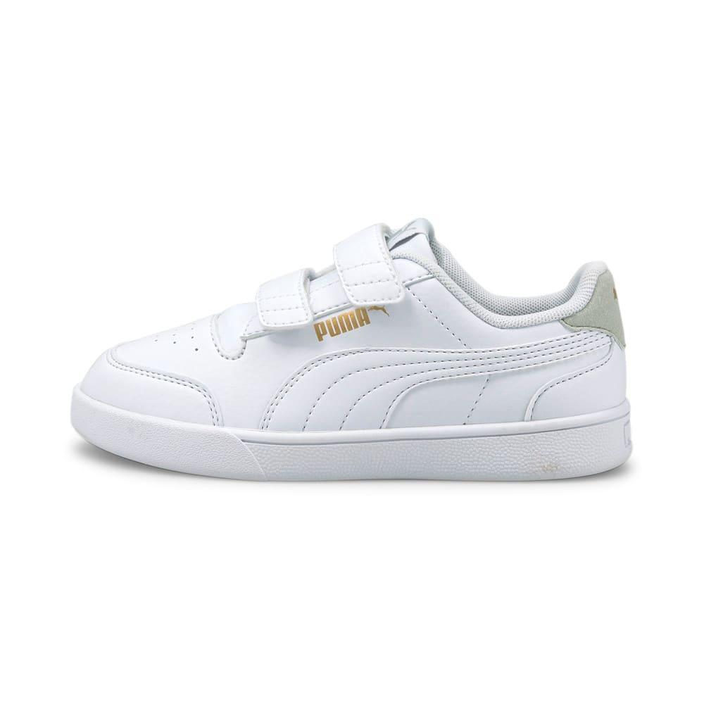 Зображення Puma Дитячі кеди Shuffle Kids' Trainers #1: Puma White-Puma White-Gray Violet-Puma Team Gold