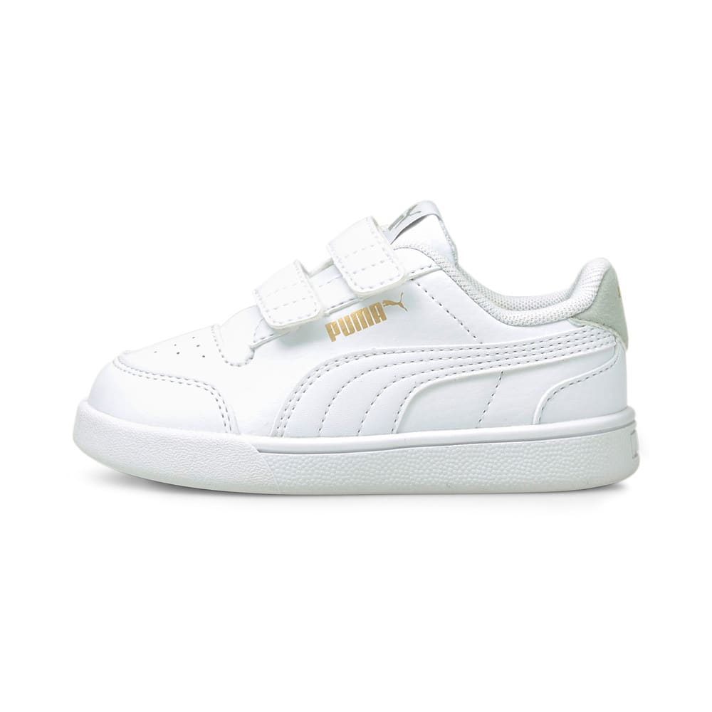 Зображення Puma Дитячі кеди Shuffle V Babies' Trainers #1: Puma White-Puma White-Gray Violet-Puma Team Gold