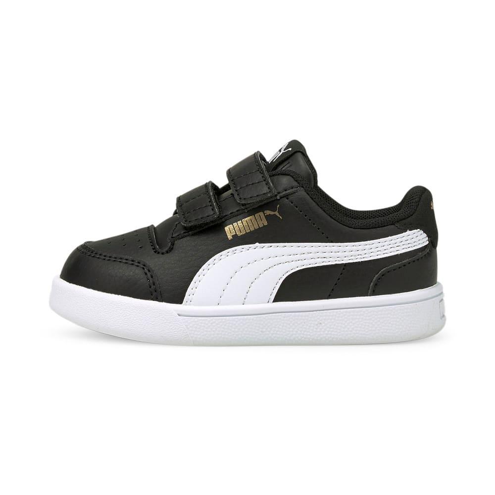 Зображення Puma Дитячі кеди Shuffle V Babies' Trainers #1: Puma Black-Puma White-Puma Team Gold