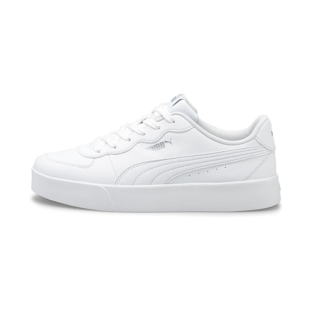 Зображення Puma Кеди Skye Clean Women's Trainers #1: Puma White-Puma White-Puma Silver