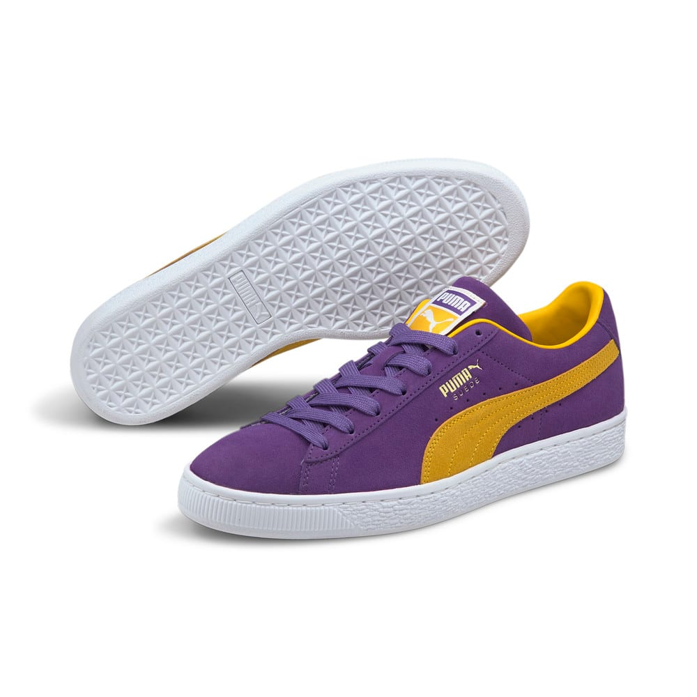 Изображение Puma Кеды Suede Teams Trainers #2: Prism Violet-Spectra Yellow