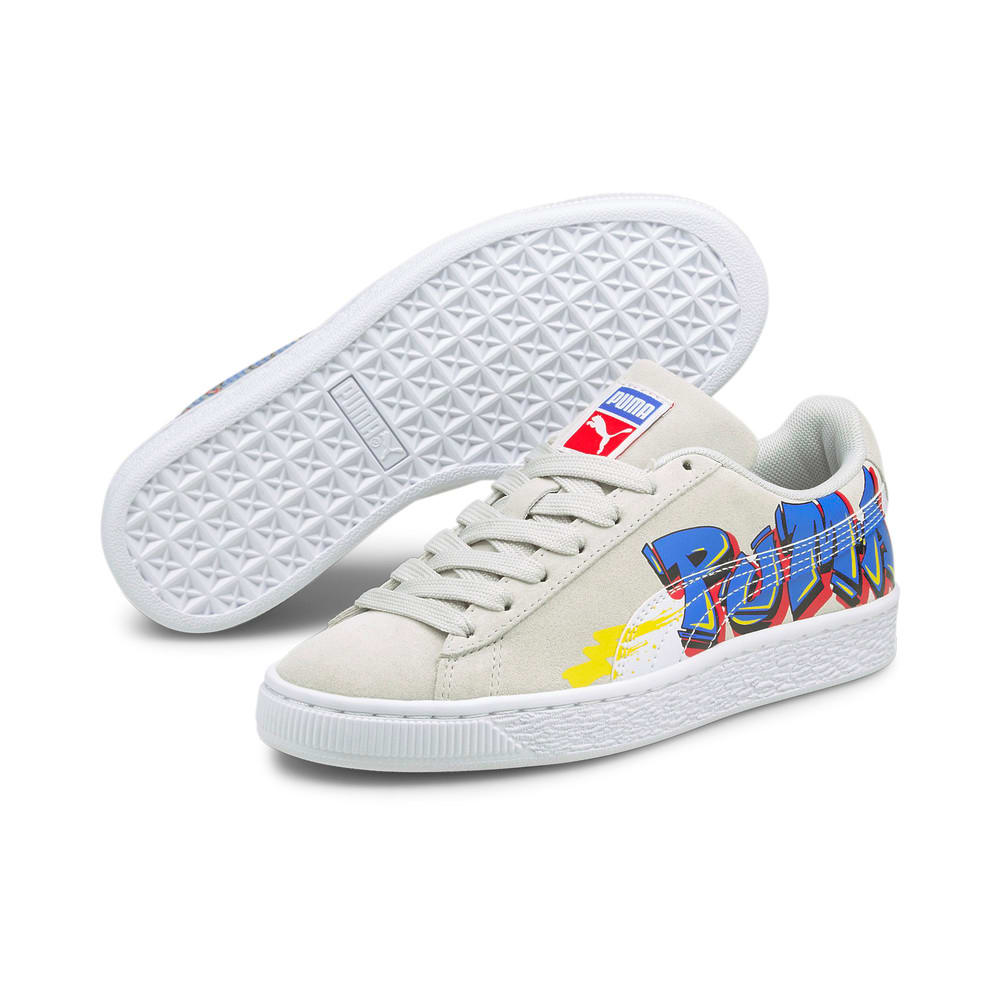 Image Puma Suede Street Art Youth Trainers #2