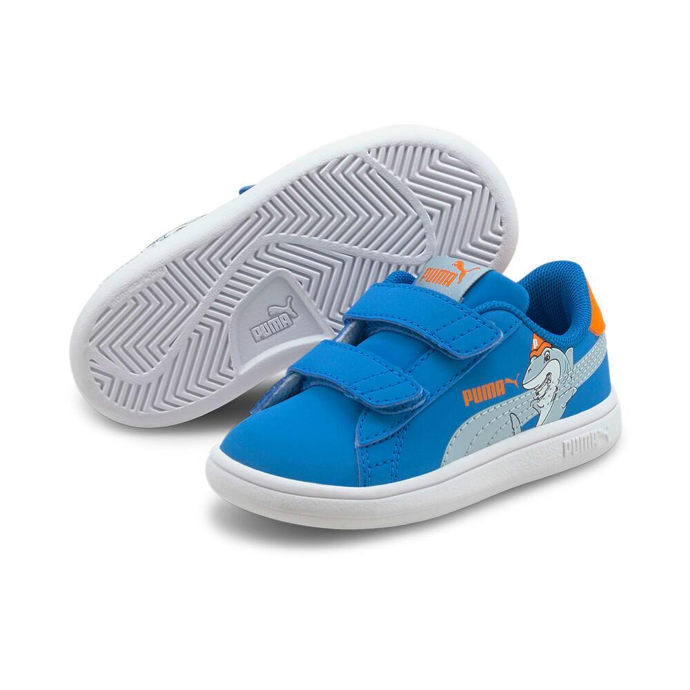Изображение Puma Детские кеды Smash v2 Lil PUMA V Babies' Trainers #2: Future Blue-Blue Fog