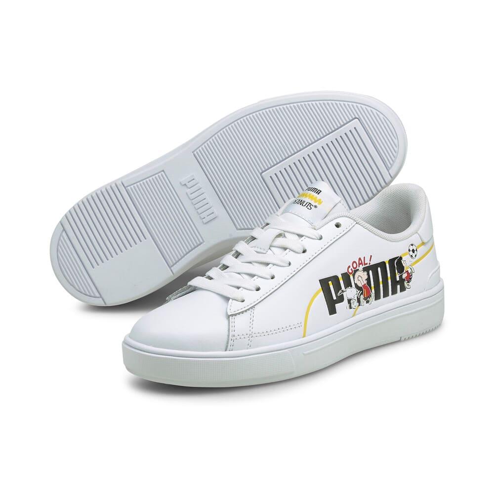 Зображення Puma Дитячі кеди PUMA x PEANUTS Serve Pro Youth Trainers #2: Puma White-Puma Black