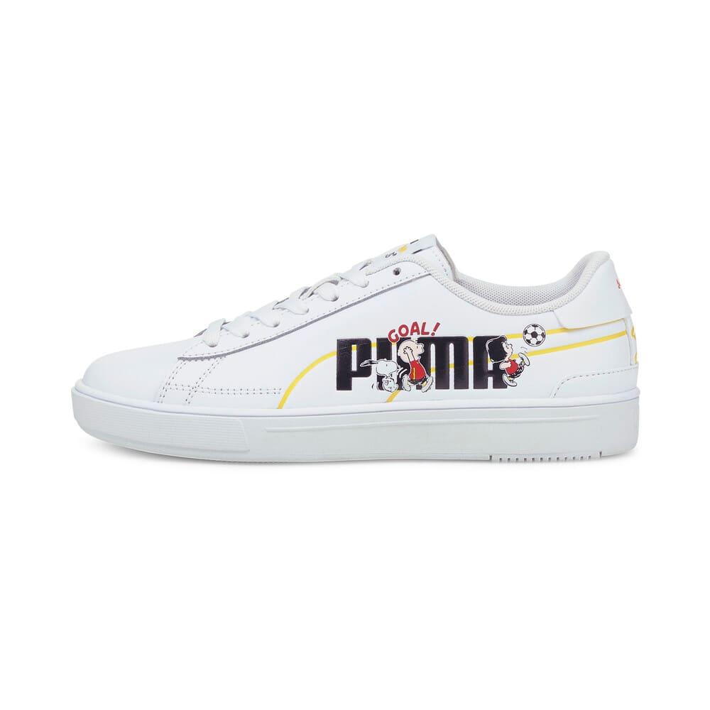 Зображення Puma Дитячі кеди PUMA x PEANUTS Serve Pro Youth Trainers #1: Puma White-Puma Black