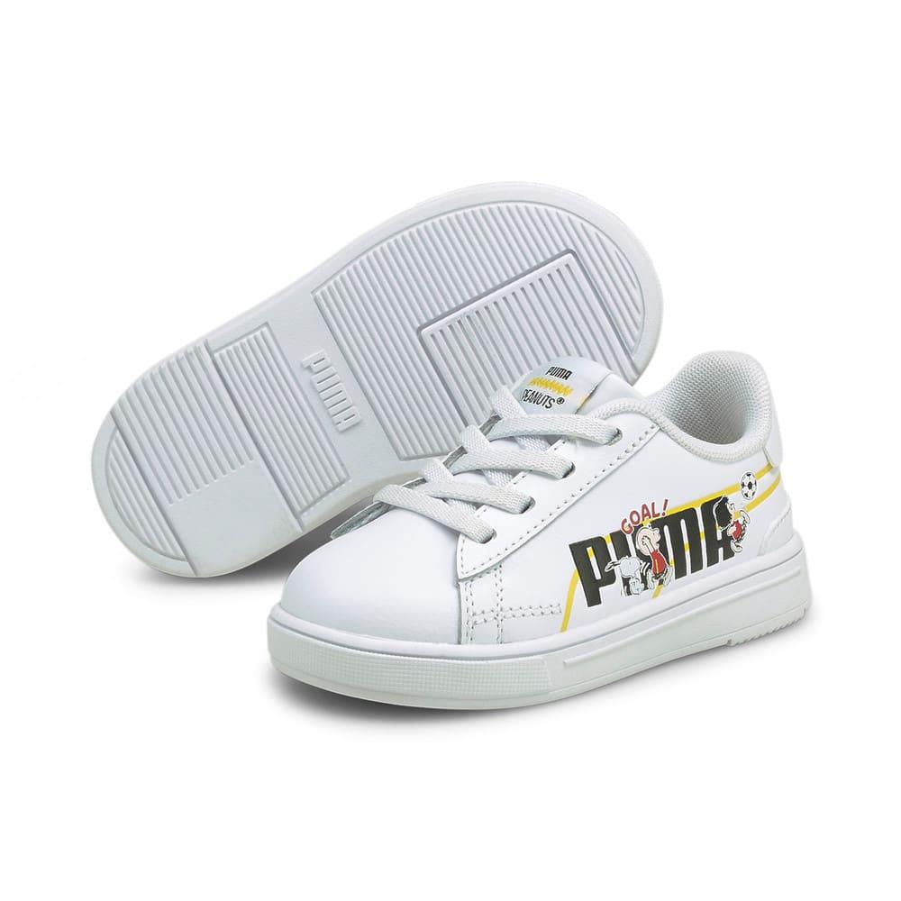 Изображение Puma Детские кеды PUMA x PEANUTS Serve Pro Babies' Trainers #2: Puma White-Puma Black