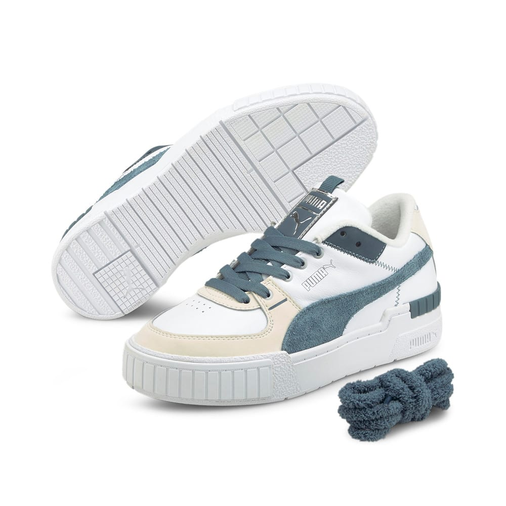 Зображення Puma Кеди Cali Sport Frosted Hike Women's Trainers #2: Puma White-China Blue-Vaporous Gray