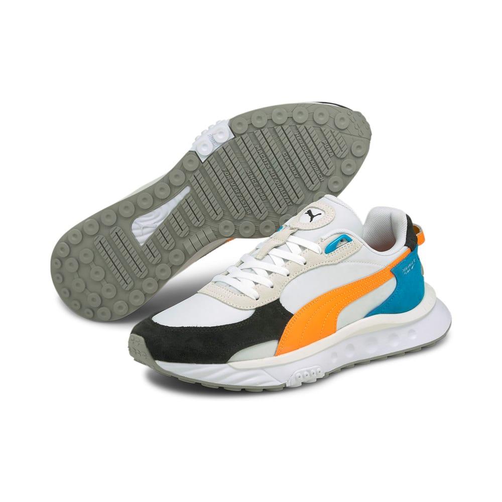 Изображение Puma Кроссовки Wild Rider Rollin' Sneakers #2: Puma White-Orange Glow
