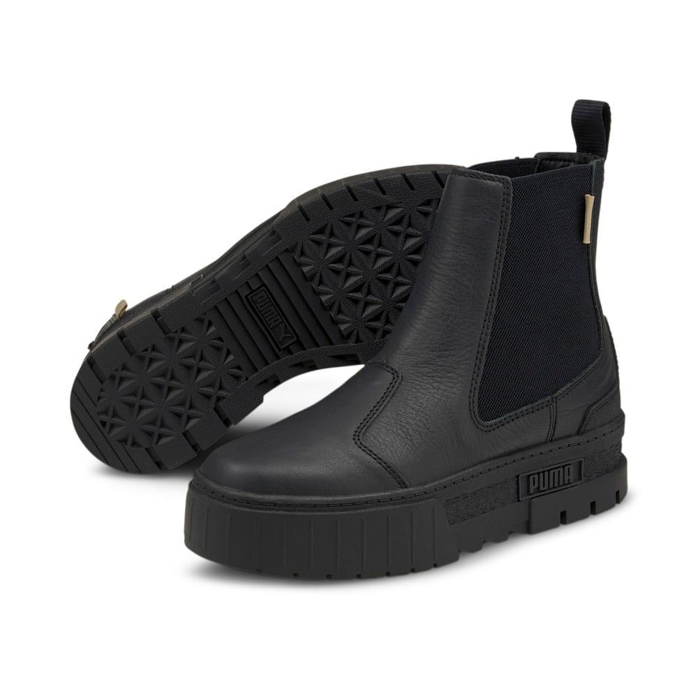 Изображение Puma Ботинки Mayze Chelsea Infuse Women's Boots #2: Puma Black