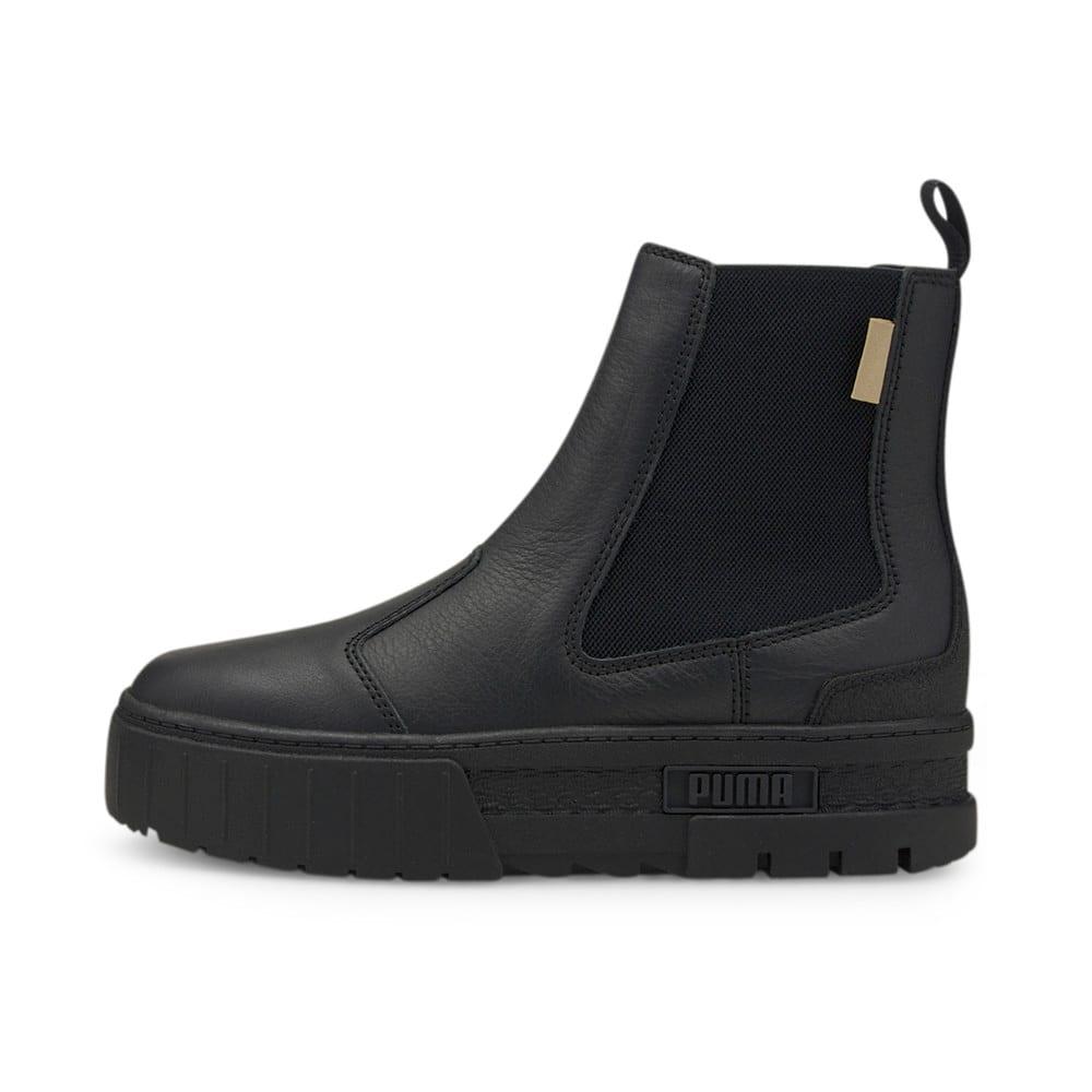 Изображение Puma Ботинки Mayze Chelsea Infuse Women's Boots #1: Puma Black