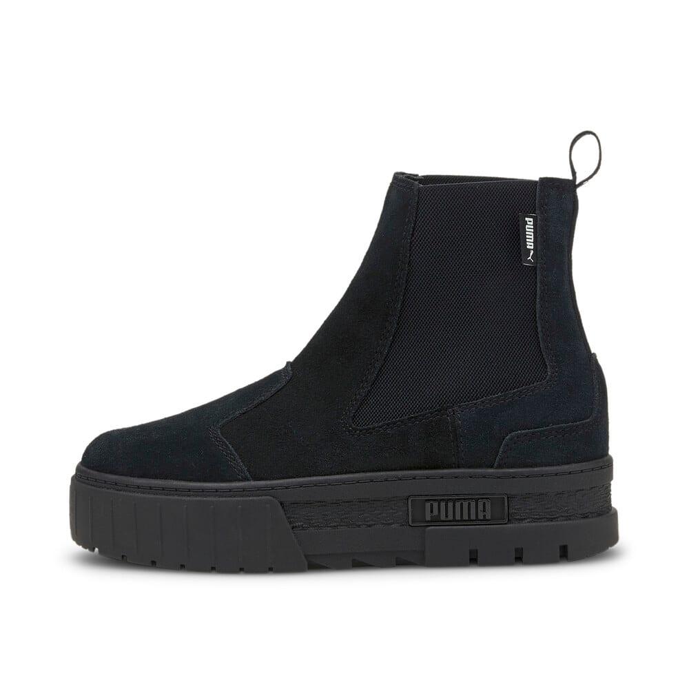 Зображення Puma Черевики Mayze Chelsea Suede Women's Boots #1: Puma Black