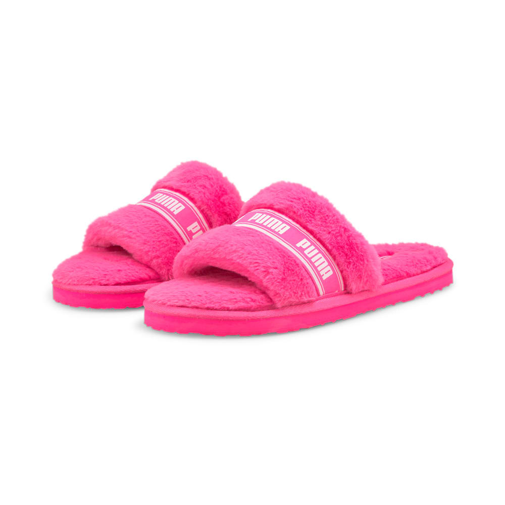 Изображение Puma Шлепанцы Fluff Women's Slide #2: Fluo Pink-Puma White