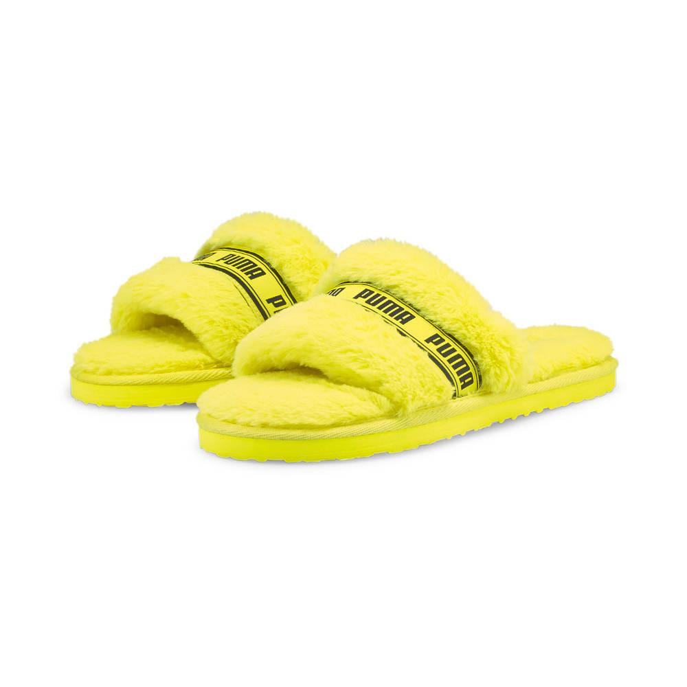 Зображення Puma Шльопанці Fluff Women's Slide #2: Fluo Yellow-Puma Black