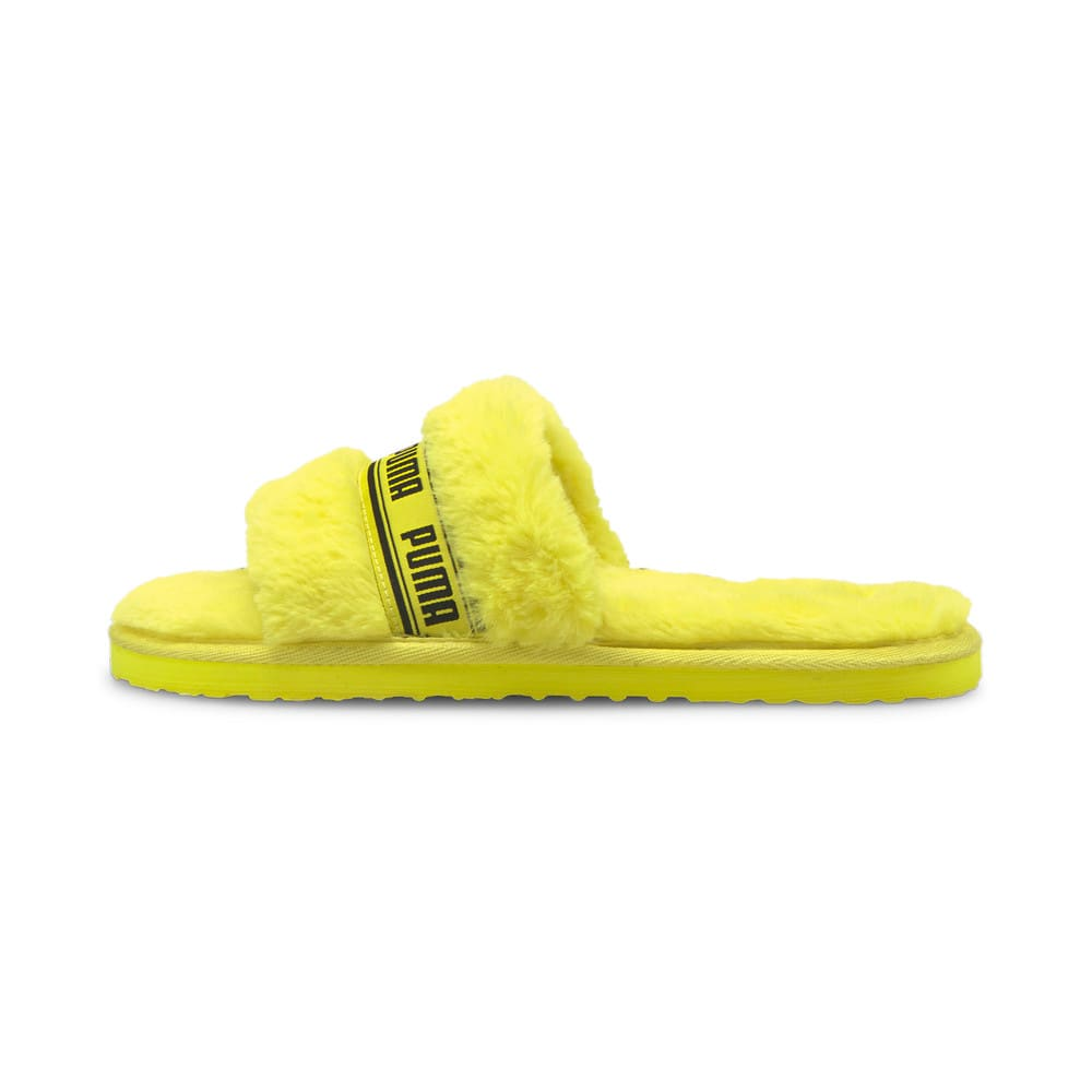 Зображення Puma Шльопанці Fluff Women's Slide #1: Fluo Yellow-Puma Black