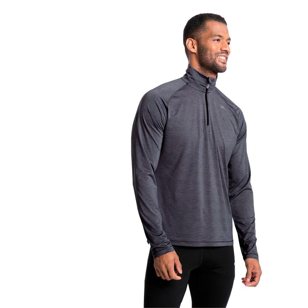 Görüntü Puma RUNNING Yarım Fermuarlı Uzun Kollu Erkek T-shirt #2