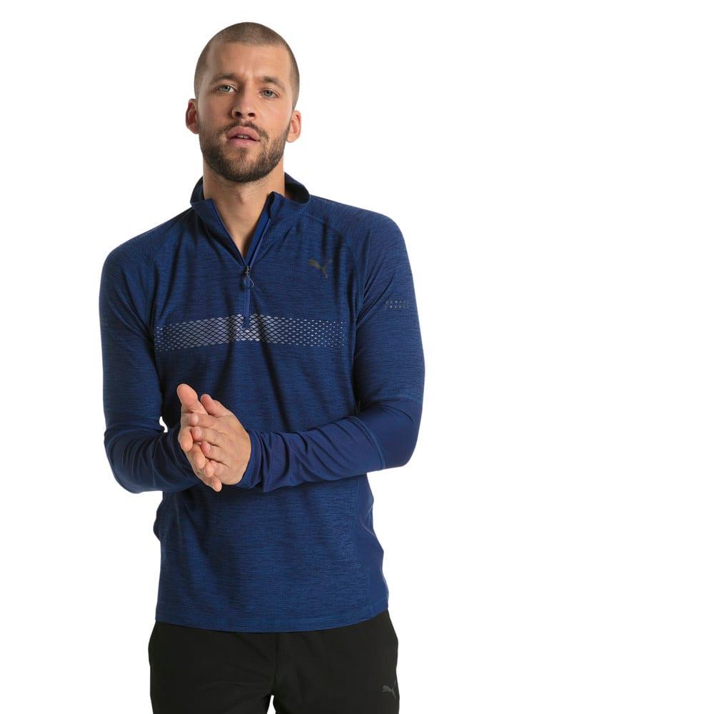 Görüntü Puma RUNNING NIGHTCAT Yarım Fermuarlı Uzun Kollu Erkek T-Shirt #2