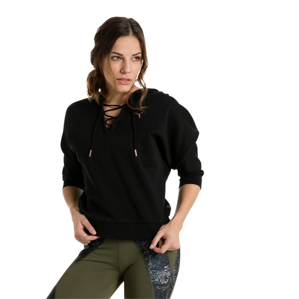 Görüntü Puma ACTIVE TRAINING YOGINI Cropped Kapüşonlu Kadın Sweatshirt #2