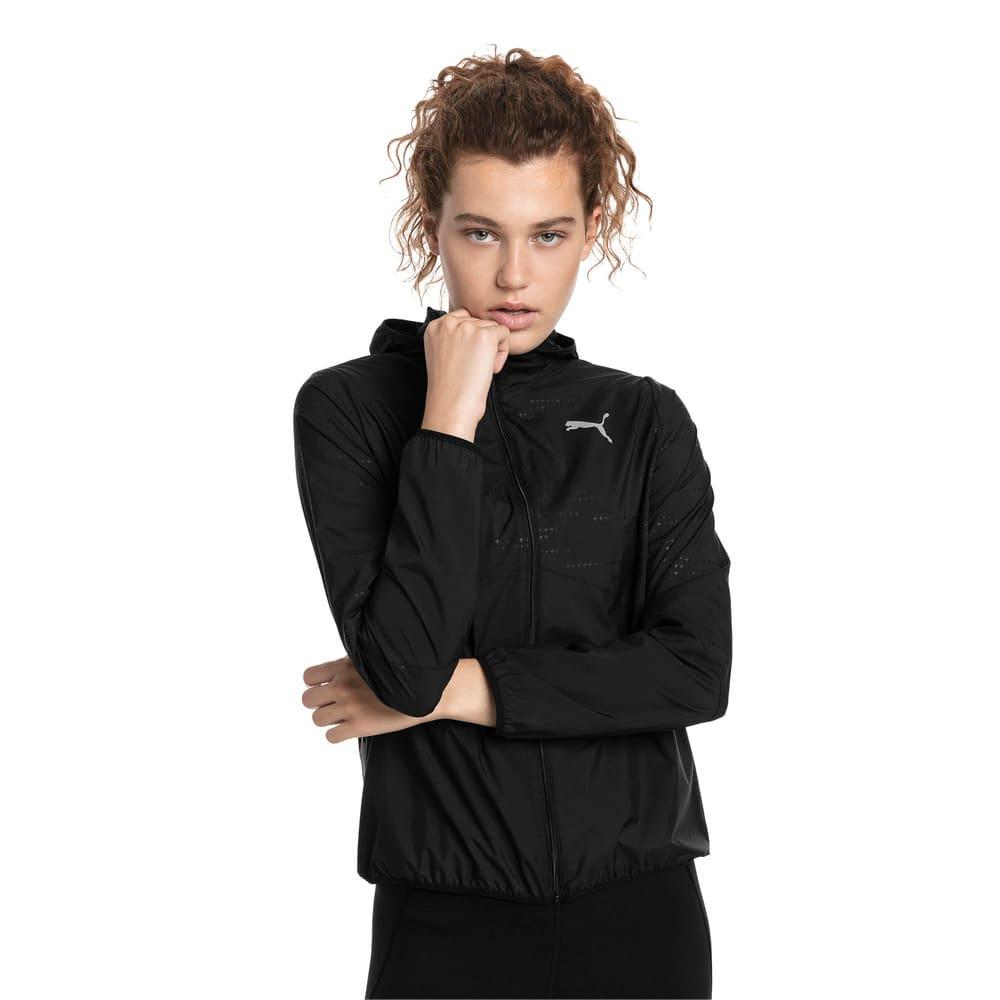 Imagen PUMA Chaqueta deportiva de malla tejida y capucha Ignite para mujer #1
