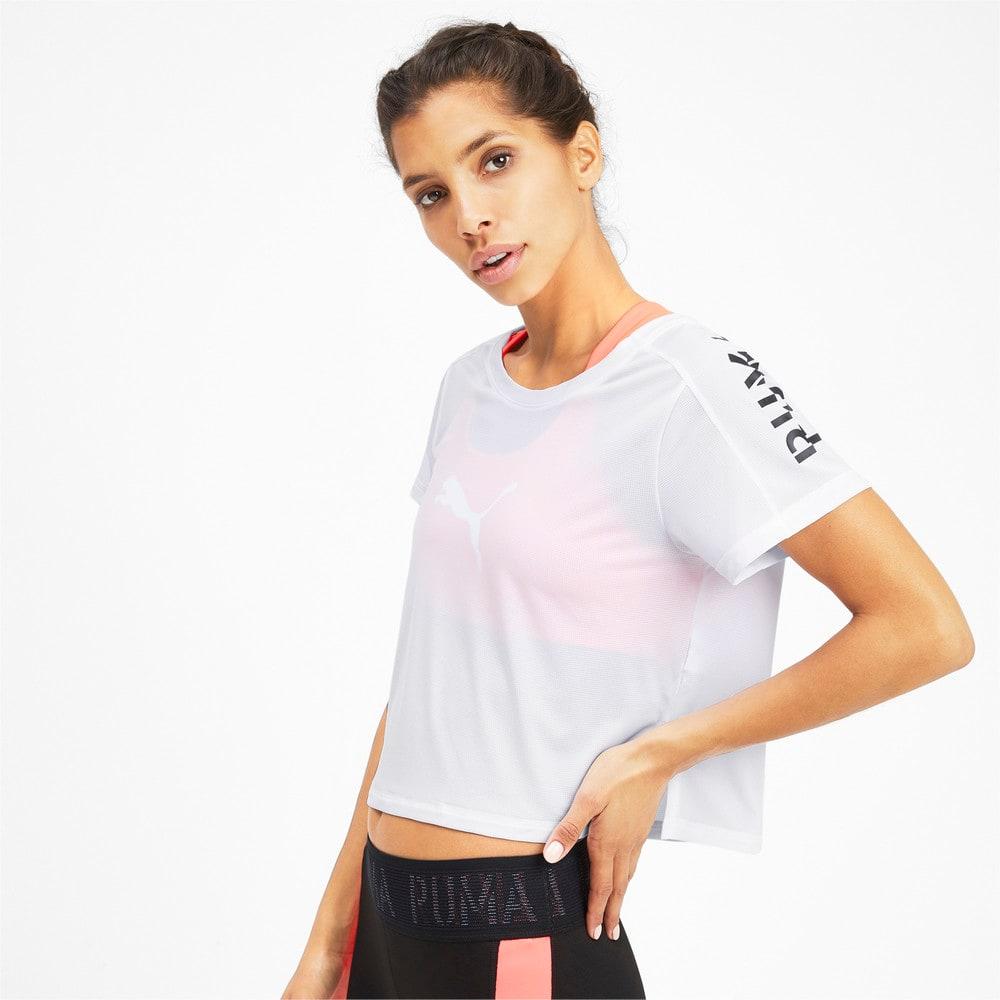 Image Puma Cropped Short Sleeve Women's Training Tee #1