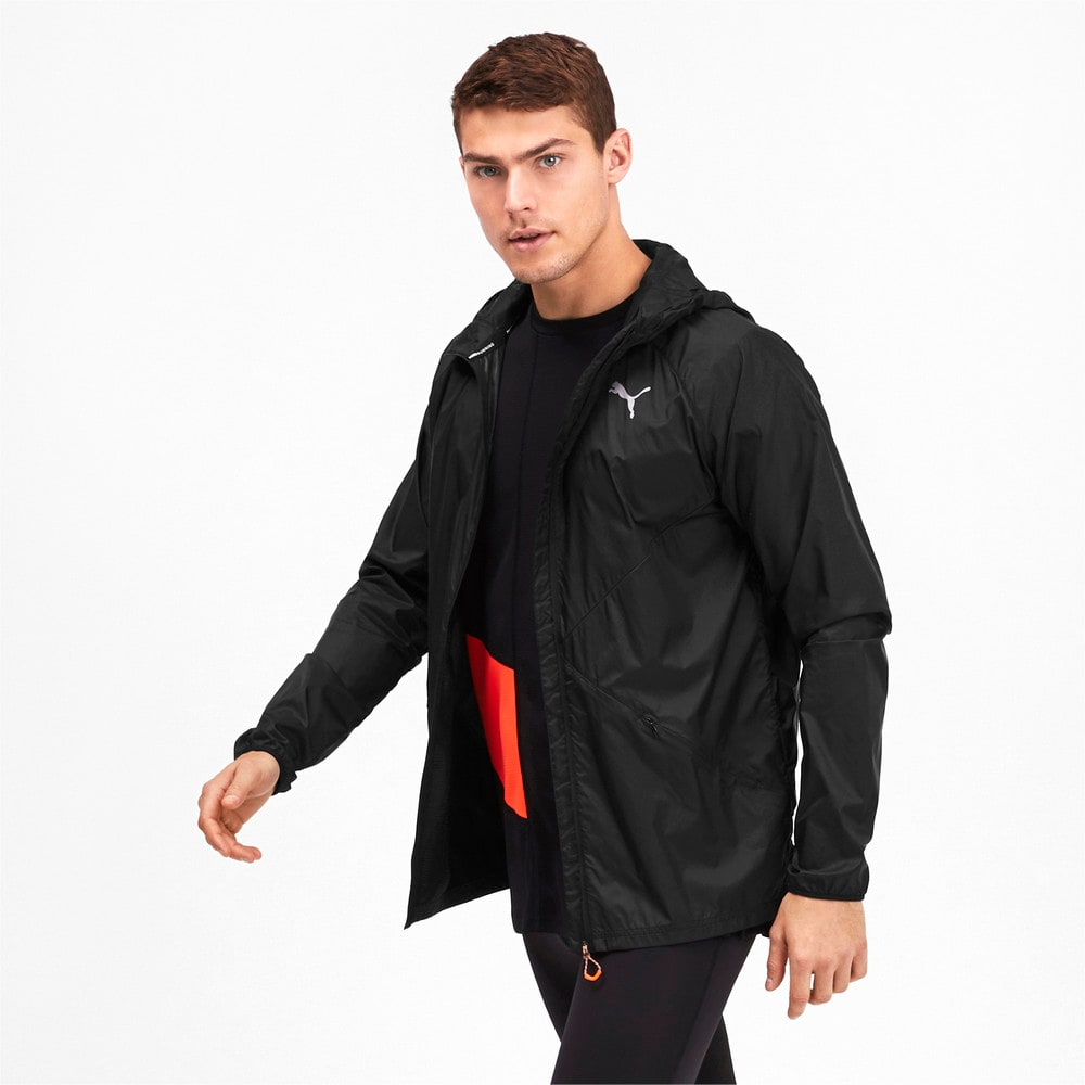 Image Puma Lightweight Woven Hooded Men's Running Jacket #1