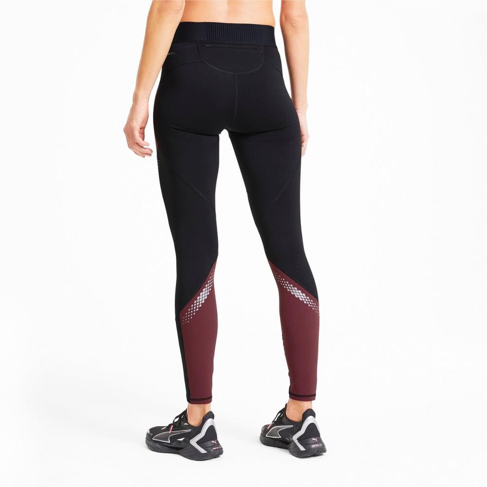Изображение Puma Беговые лосины полной длины RunnerID Full Length Women's Running Leggings #2: Puma Black-Burgundy