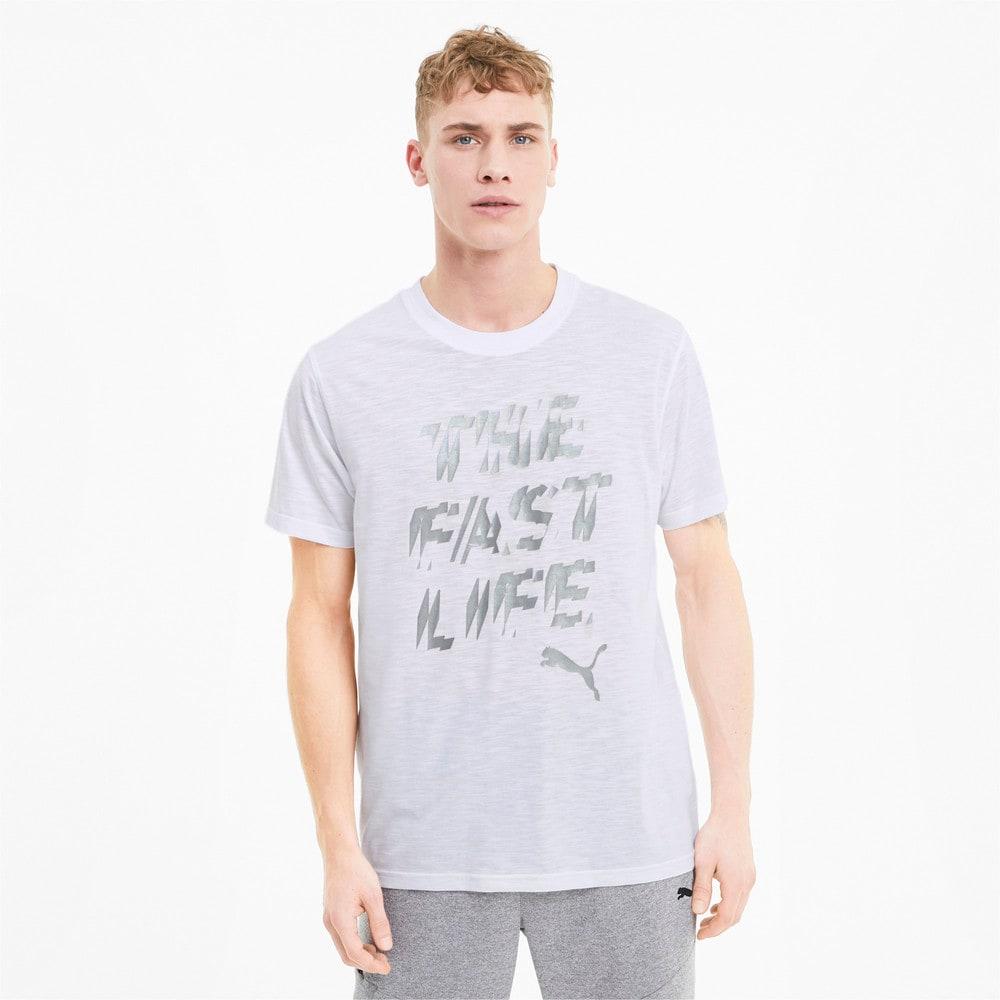 Görüntü Puma PERFORMANCE Slogan Antrenman Erkek T-Shirt #1