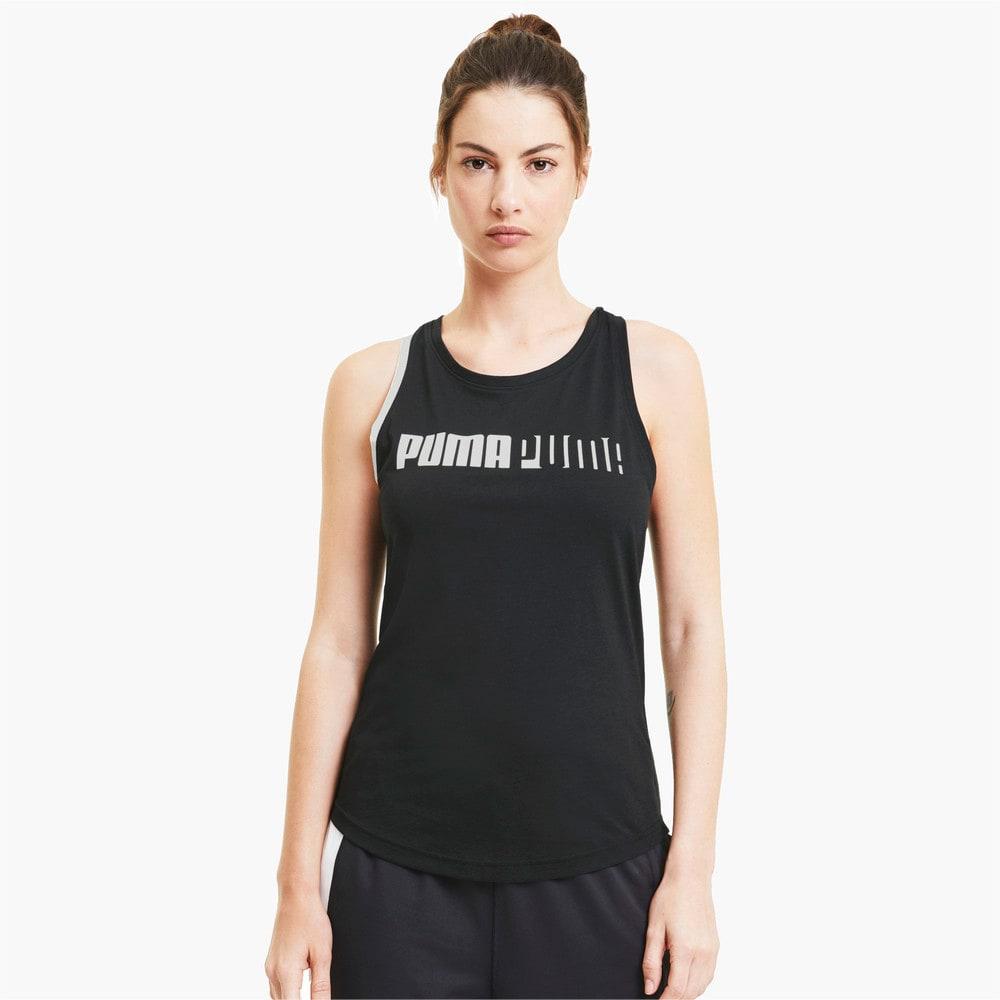 Imagen PUMA Polera de training sin mangas Logo Cross Back para mujer #1