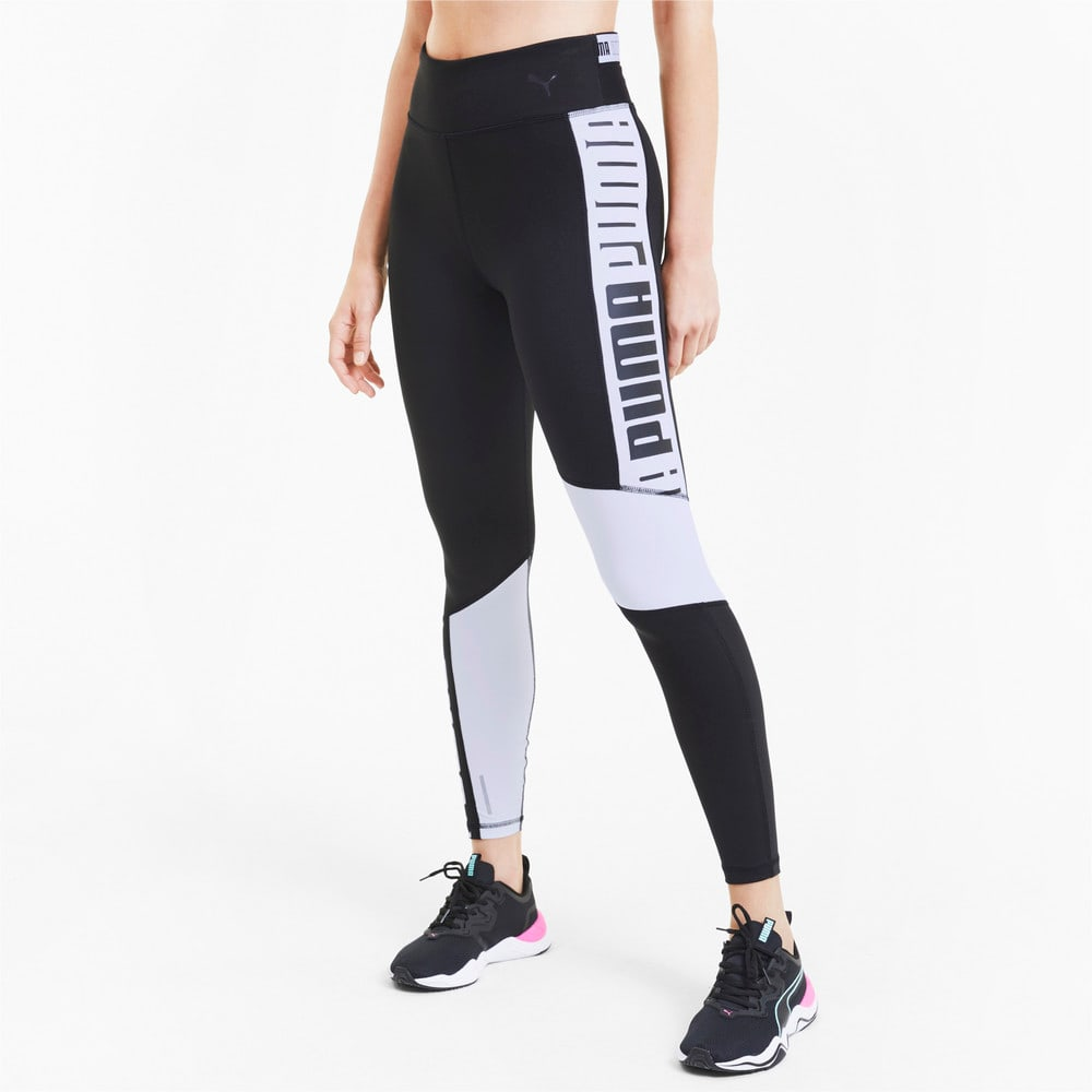 Imagen PUMA Leggings de training con cintura alta 7/8 Logo para mujer #1