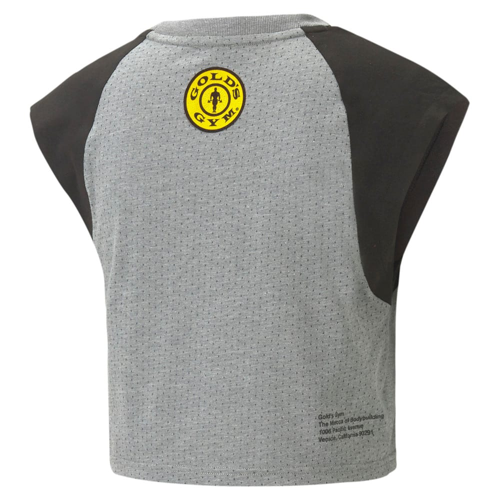 Image Puma PUMA x GOLD'S GYM dryCELL Cropped Women's Training Tee #2