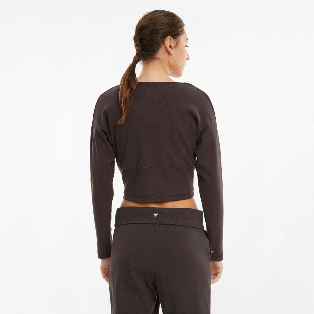 Зображення Puma Топ з довгим рукавом Exhale Ribbed Knit V-Neck Long Sleeve Women's Training Top #2
