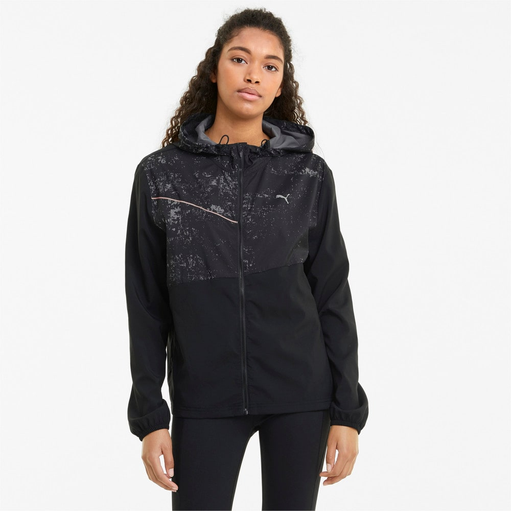 Изображение Puma Куртка Graphic Hooded Women's Running Jacket #1